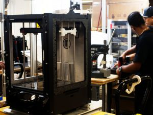 Makerbot workers assemble Replicator Z18s in Sunset Park