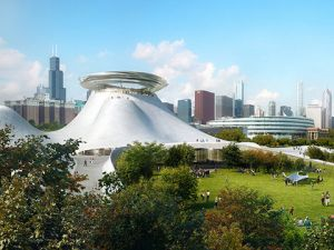 The hotly disputed designs for the Lucas Museum of Narrative Art in Chicago.
