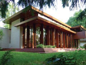 Frank Lloyd Wright's Bachman Wilson House. (Photo: Courtesy of Crystal Bridges Museum of Art)