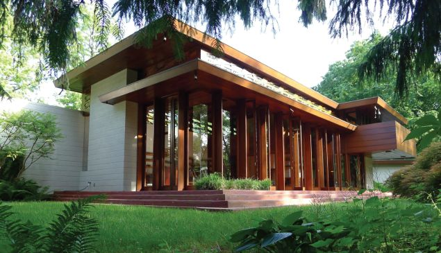 Frank Lloyd Wright's Bachman Wilson House. (Photo: Courtesy of Crystal Bridges Museum of Art)