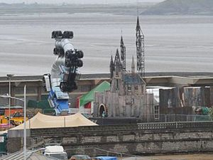 """Photos of what is suspected to be a covert exhibition called """"Dismaland"""" by world famous street artist Banksy in the seaside town of Weston-super-mare in Bristol, England. (Photo: Instagram via @bjornonn)"""
