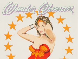Mel Ramos, Wonder Woman (1979). The lithograph's starting price is listed at $1,000. (Photo: Auctionata)