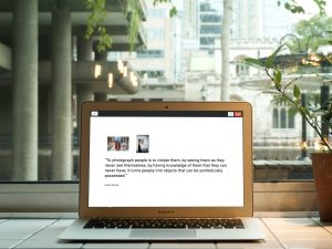 A presentation running on a laptop, built in Swipe. (Photo: Swipe)