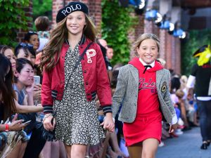 The Ziegler sisters in the Ralph Lauren runway show. (Photo: Patrick McMullan)