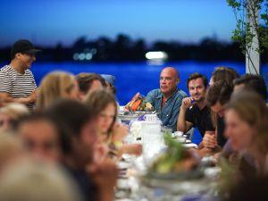 The Google-hosted dinner (Photo: Billy Farrell Agency)