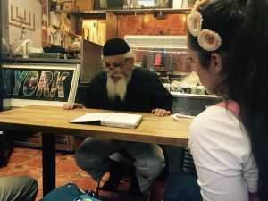 "The rabbi has one burning issue in life: helping people ""get married and stay married."" (PHOTO: Celia Farber)"