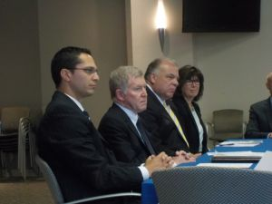 Lagana, Gordon and Sweeney discuss child mental health issues in Hackensack.