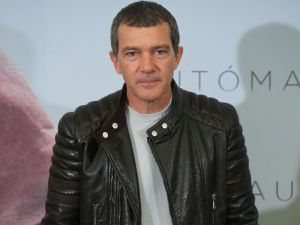 "MADRID, SPAIN - JANUARY 20: Spanish actor Antonio Banderas attends the ""Automata"" photocall at the Intercontinental Hotel on January 20, 2015 in Madrid, Spain. (Photo by Carlos Alvarez/Getty Images)"