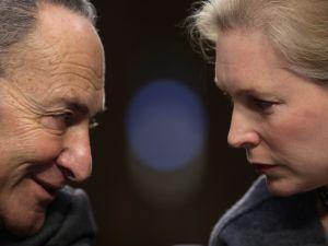 Senate Minority Leader Charles Schumer and Senator Kirsten Gillibrand.