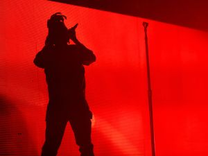 INDIO, CA - APRIL 11: Singer The Weeknd performs onstage during day 2 of the 2015 Coachella Valley Music & Arts Festival (Weekend 1) at the Empire Polo Club on April 11, 2015 in Indio, California. (Photo by Christopher Polk/Getty Images)