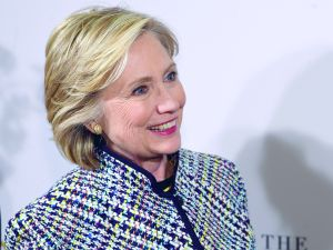NEW YORK, NY - APRIL 23: Hillary Clinton attends the 2015 DVF Awards at United Nations on April 23, 2015 in New York City. (Photo by Jamie McCarthy/Getty Images)
