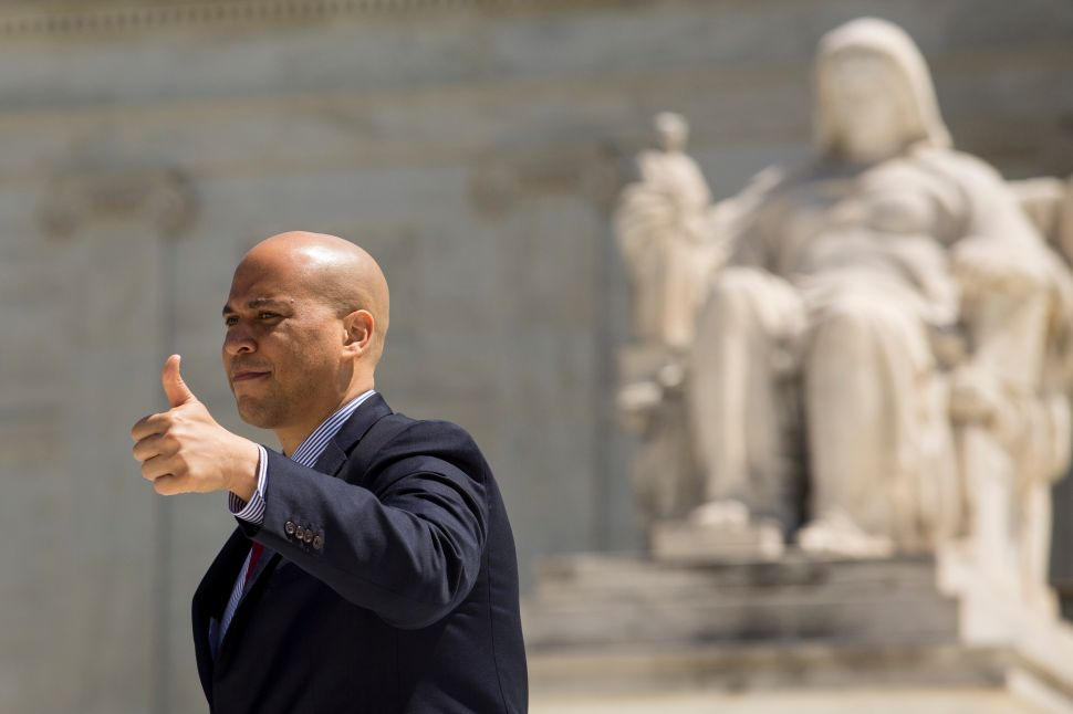 Cory Booker Would Never Vote Against Israel