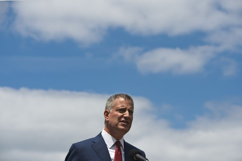 Bill de Blasio's Message to His Potential Primary Foes: Bring It On