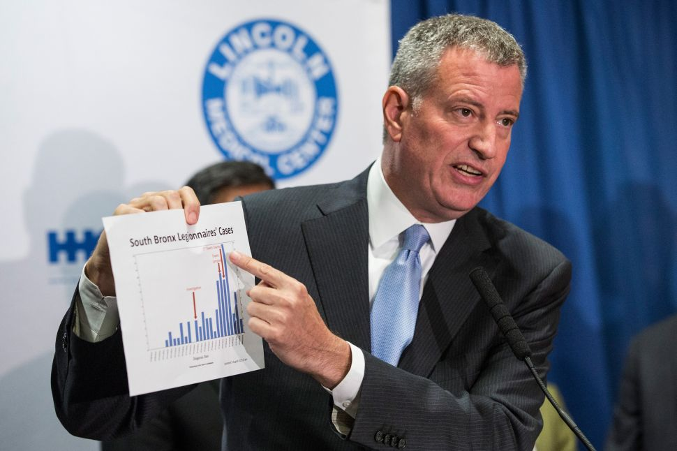 Legionnaires' Outbreak Contained in the South Bronx, de Blasio Says
