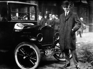File Photo: Henry Ford With His Model T. (Photo By Getty Images)
