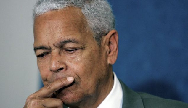 Caption:WASHINGTON - AUGUST 31: NAACP National Board of Directors Chairman Julian Bond speaks during a news briefing at the National Press Club August 31, 2006 in Washington DC. The Internal Revenue Service cleared the NAACP?s tax-exempt status in the wake of an investigation of speech by Bond criticizing U.S. President George W. Bush called the tax status of the organization into question. (Photo by Mark Wilson/Getty Images)