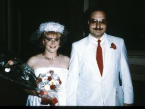 038500 01: Anne Henderson Pollard and her husband Jonathan Pollard stand at their wedding August 9, 1985 in Italy. The couple were arrested and accused of selling American secrets to Israel and China. (Photo by Liaison)