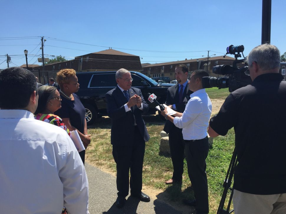 Menendez Pushes for More Federal Aid Following Tour of Camden