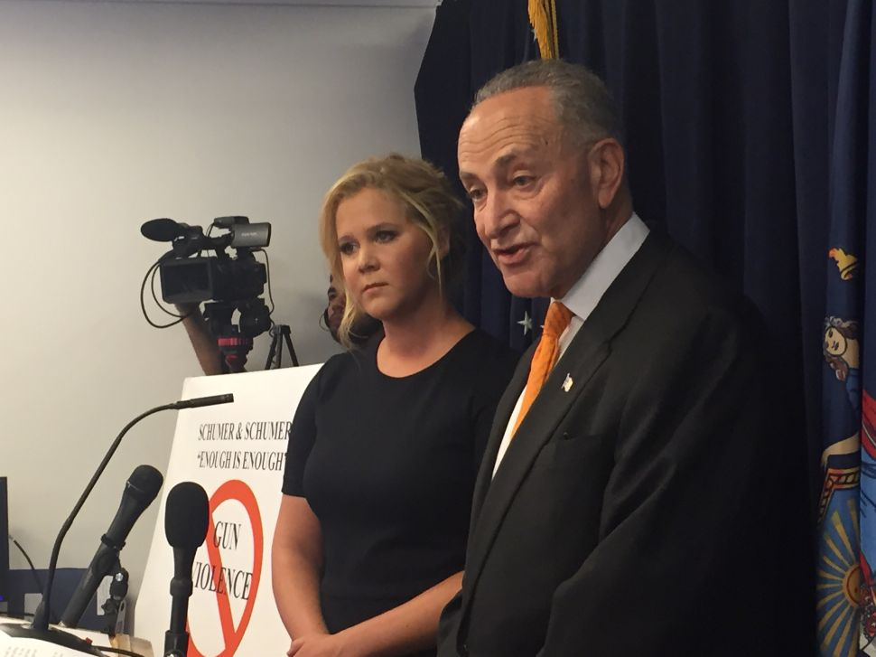 Amy Schumer and Charles Schumer Team Up to Push Tighter Gun Laws