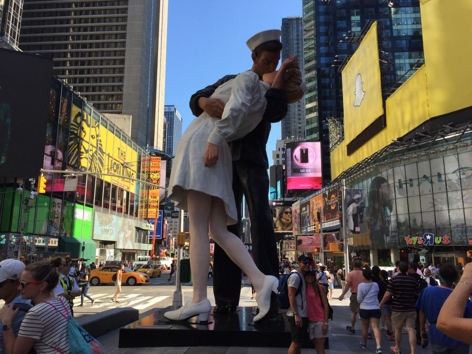 Monumental—and Controversial—'Kissing Sailor' Sculpture Comes to Times Square