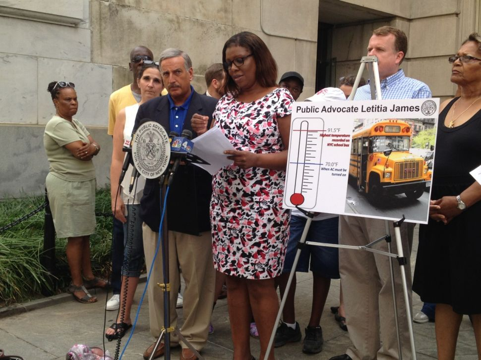 Public Advocate Sues DOE Over Lack of Air Conditioning on Buses for Disabled Students