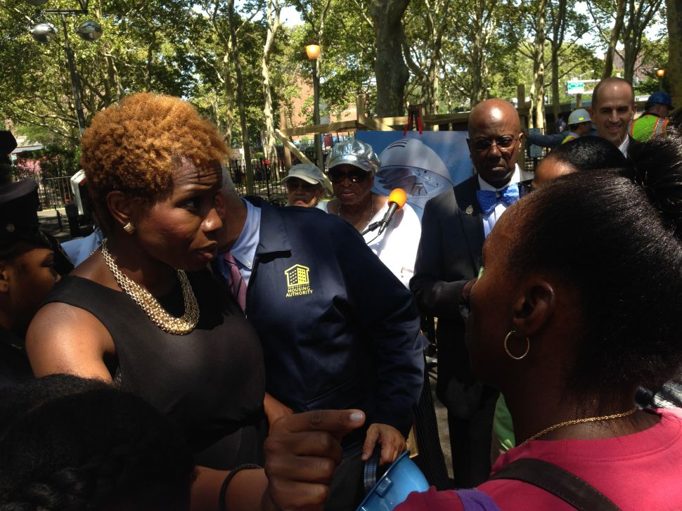 Angry Residents Swarm Housing Authority Chairwoman at Harlem Event