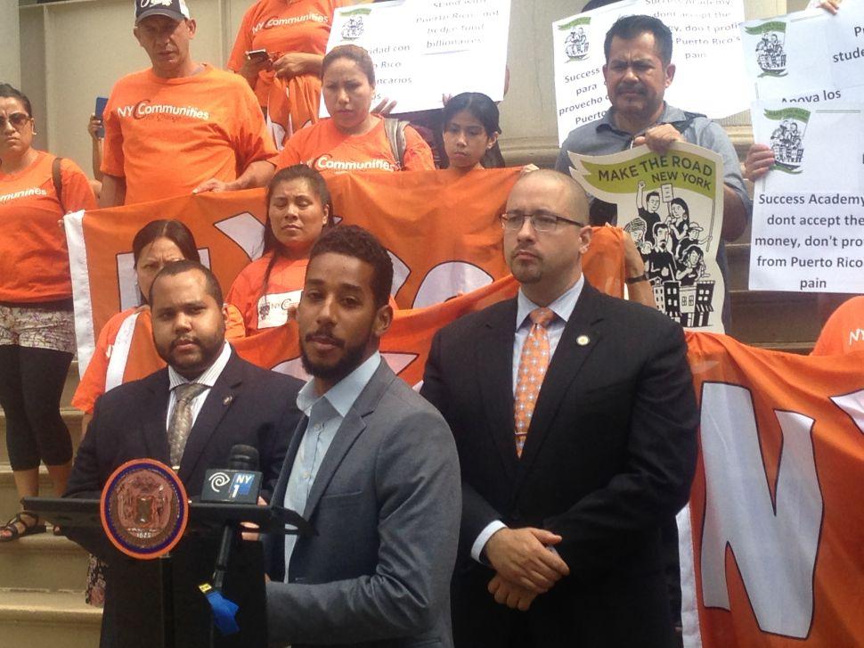 Democrats Demand Success Academy Return 'Blood Money' From Puerto Rican Debt Holder