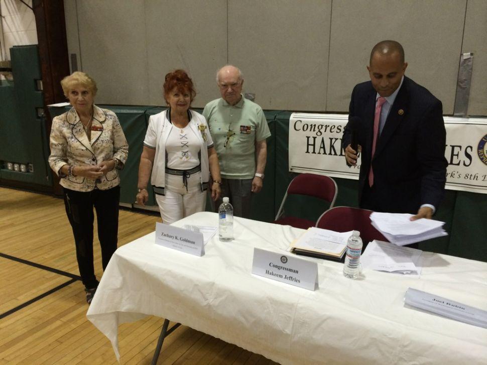 No Peace at Brooklyn Congressman's Iran Deal Town Hall