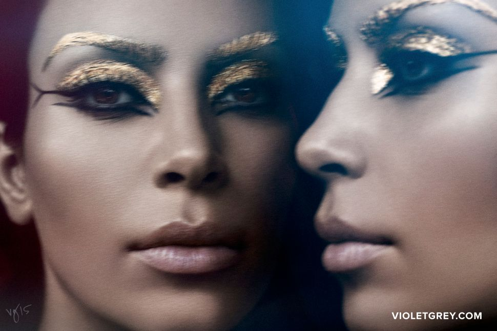 Kim Kardashian Channels Cleopatra for Beauty Mag Cover Shoot
