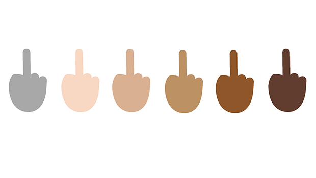 Give Monday the Middle Finger [Emoji]