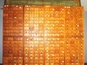 Card catalogs from The Mundaneum, an analog version of the Internet, created in part by Paul Otlet. (Photo: Zinneke / WikiCommons)