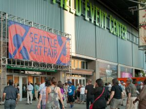 The entrance of the Seattle Art Fair at CenturyLink Field Event Center. (Photo: Courtesy Seattle Art Fair)
