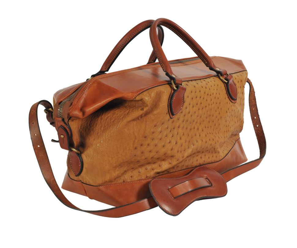 This Luxury Ostrich Skin Bag Is the Perfect Travel Companion
