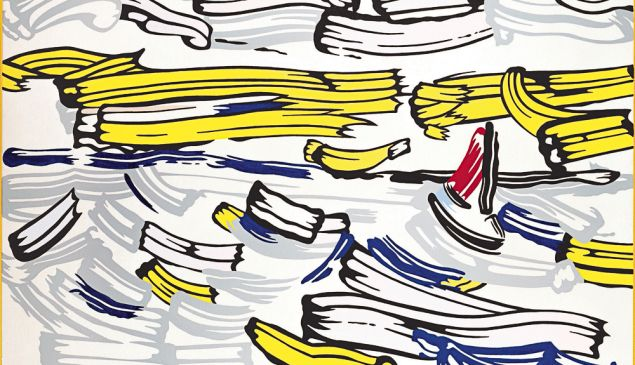 Roy Lichtenstein Sailboat 1981 Magna on canvas 50 x 70 in. (127 x 177.8 cm) Private Collection © Estate of Roy Lichtenstein