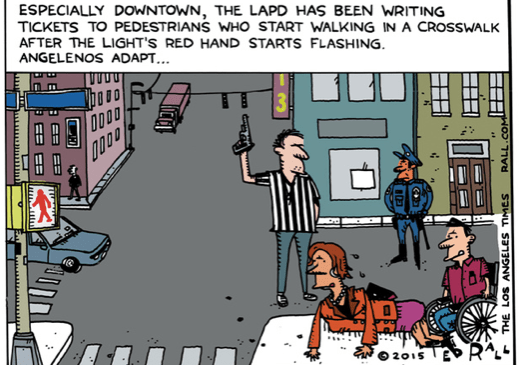 A cartoon by Ted Rall from the disputed May 11 blog post.