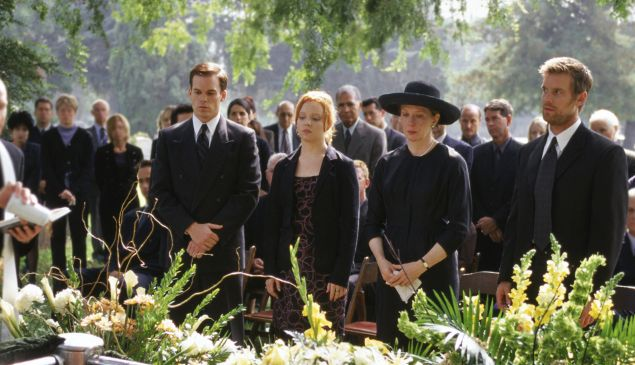 Michael C Hall, Lauren Ambrose, Frances Conroy and Peter Krause in Six Feet Under.
