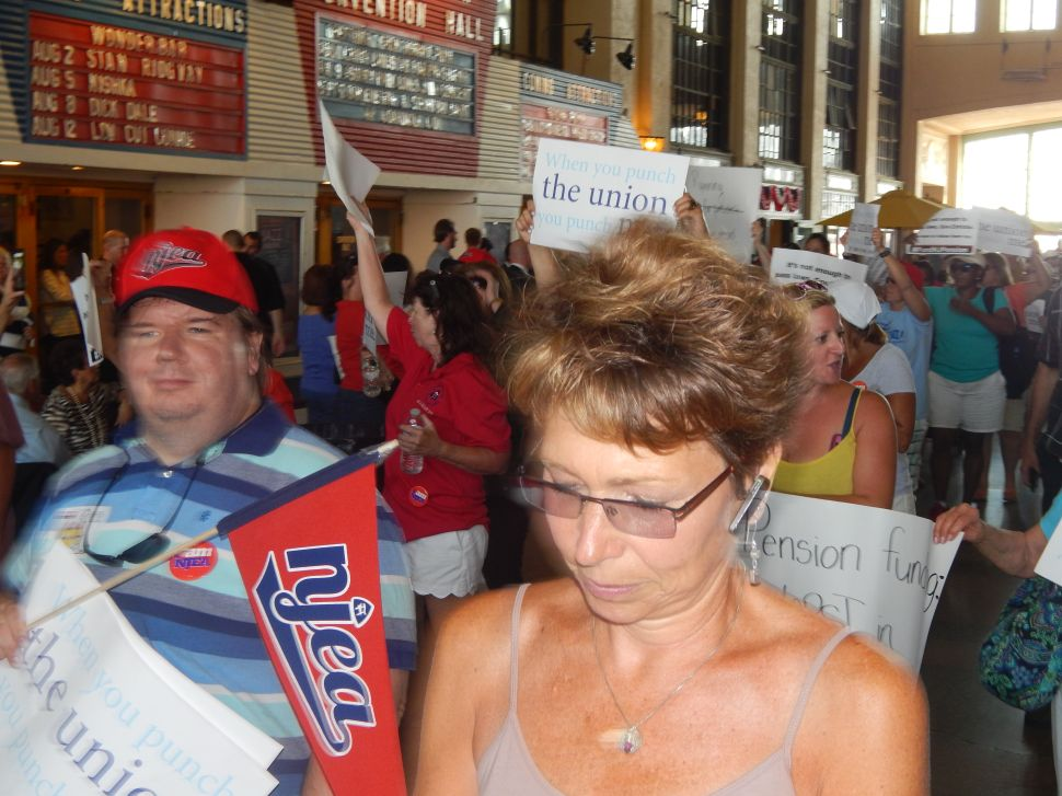 Protesters storm Christie's Fundraiser in Asbury Park