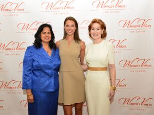 Sharmila Makhija, Christy Turlington, Dr. Pat Allen at the Women's Voices for Change Luncheon. (Photo: Jared Siskin/patrickmcmullan.com)