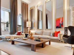 A Soho penthouse that was staged by Cheryl Eisen. (Richard Caplan)