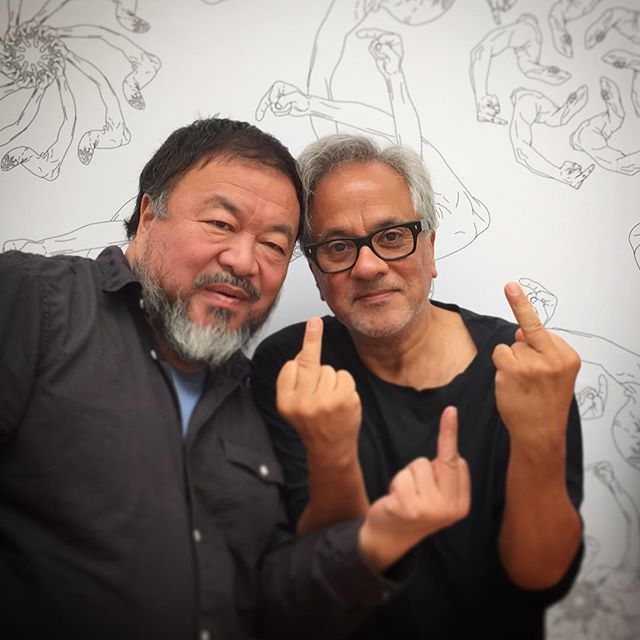 Anish Kapoor and Ai Weiwei Flip the Bird for Refugees