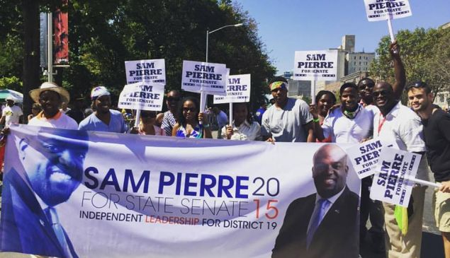 Supporters of Samuel Pierre (Photo: Facebook).