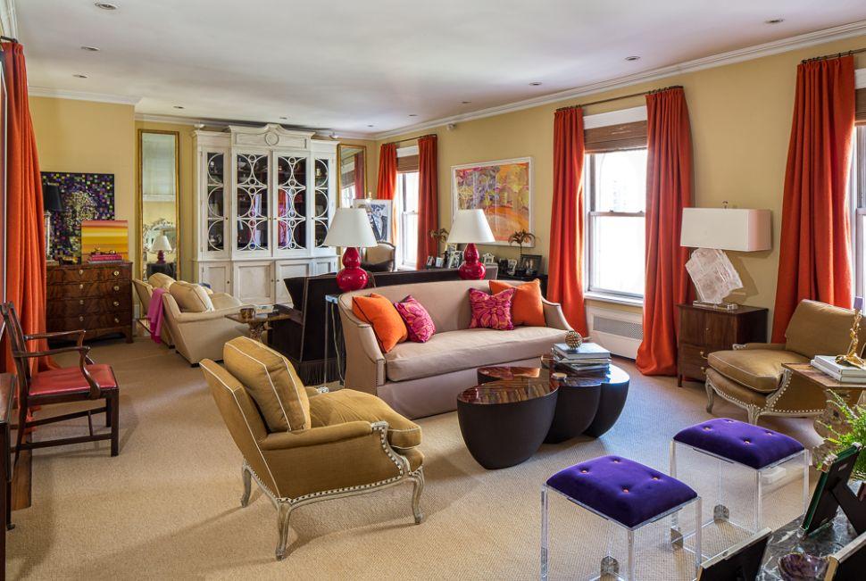 Interior Designer Amanda Nisbet's Jewel-Toned Co-op Asks a Precious $4.45M
