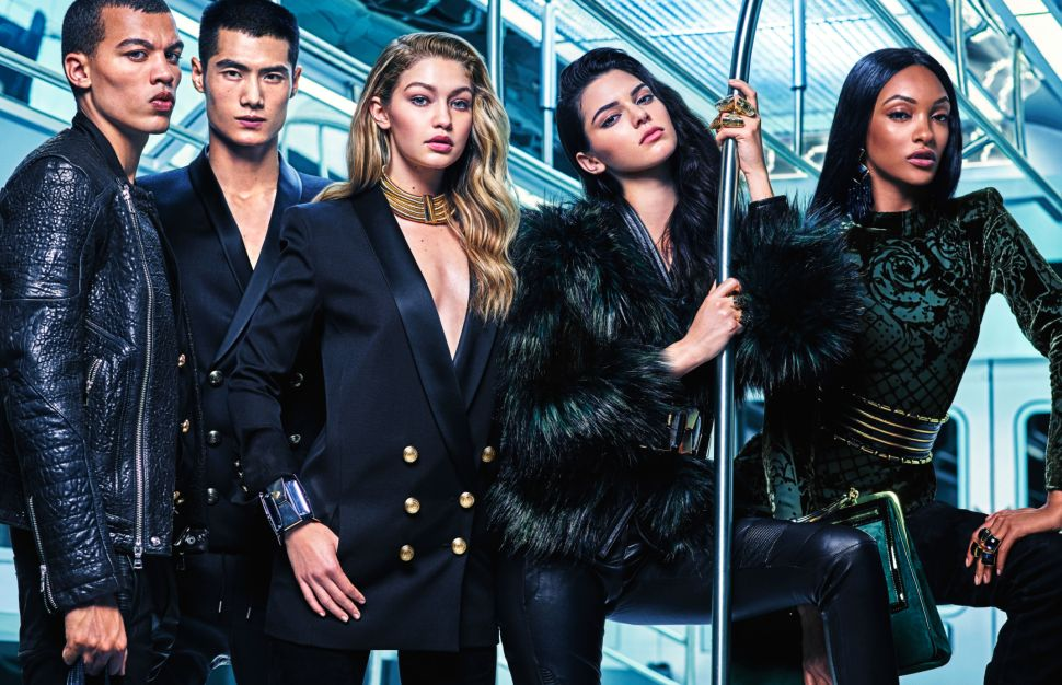 Supermodels Ride the Subway for Balmain and H&M's Collaboration