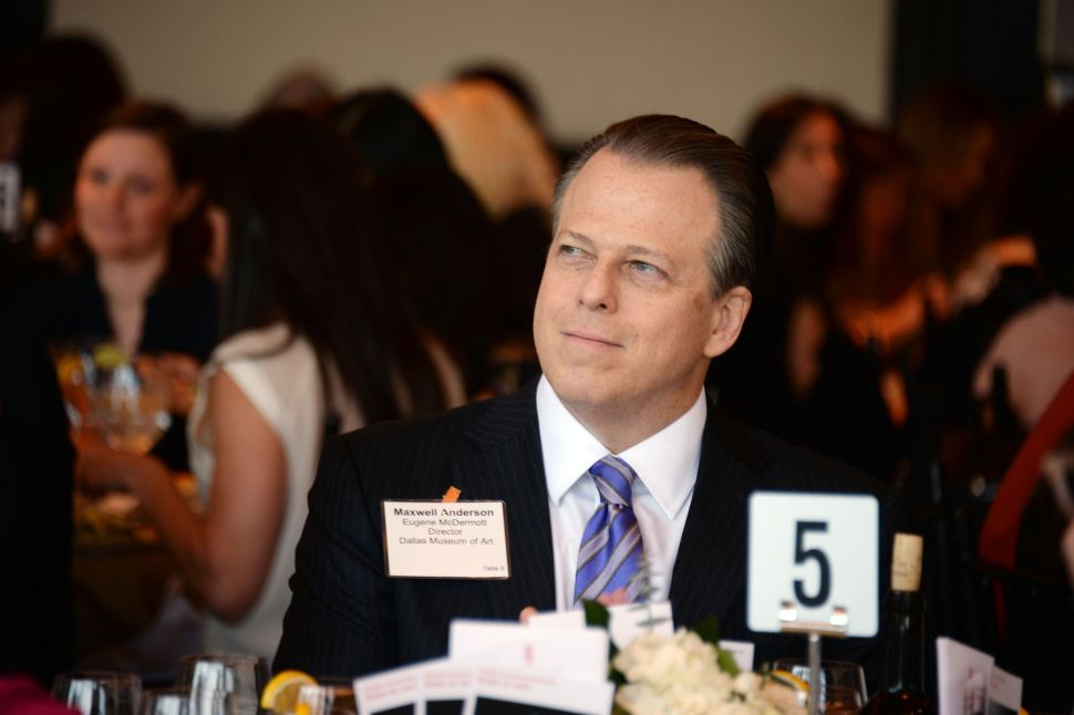 Maxwell Anderson Departs Dallas Museum, Returns to NYC in New Role