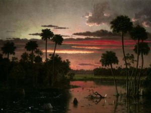 The Great Florida Sunset, Martin Johnson Heade, 1887.