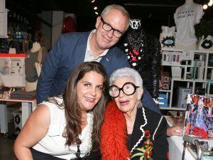 Rachel Shechtman, Iris Apfel, Donald Robertson (Photo: BFA).