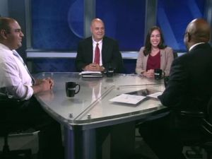 Ali Najmi, Bob Friedrich and Rebecca Lynch at a NY1 debate last week. (Screengrab: NY1)