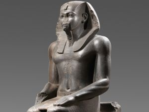 Colossal Statue of a Pharaoh, Egyptian, Middle Kingdom, Dynasty 12, reign of Amenemhat II ca. 1919–1885 B. C., From Egypt, Tanis. (Photo: Ägyptisches Museum und Papyrussammlung, Staatliche Museen, Berlin)