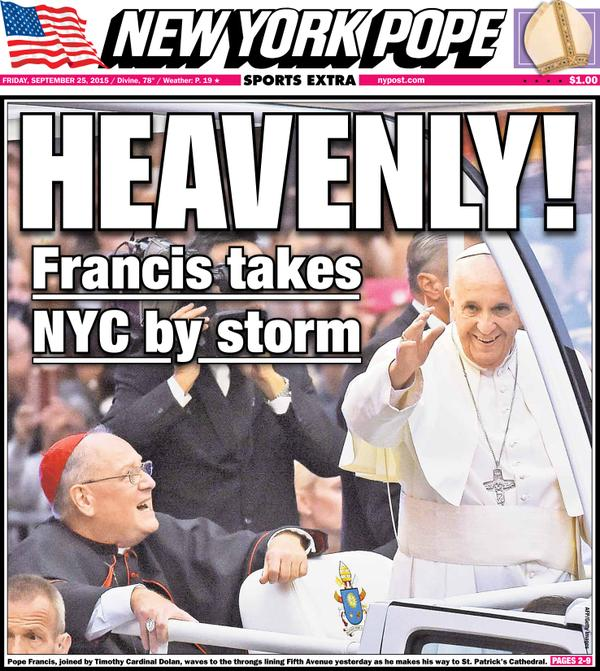 The New York Post Becomes the 'New York Pope' for the Day