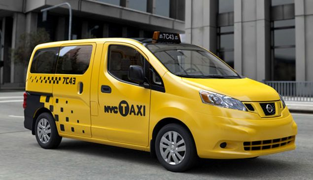 On of the Nissan NV200's, hailed as New York's 'Taxi of the Future' (Photo by City of New York via Getty Images)